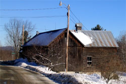 Old barn on Shady Rill Road